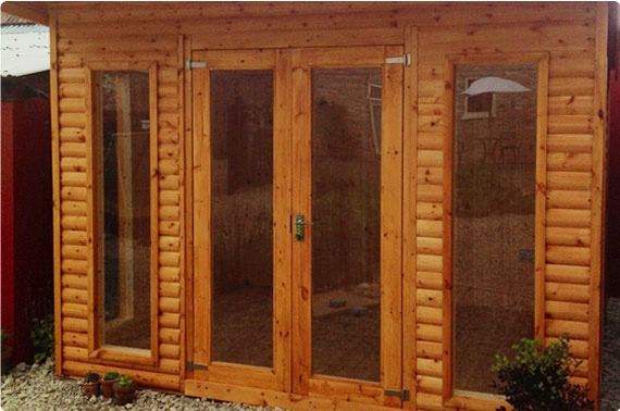 10x8 Wooden Garden Office - North Yorkshire