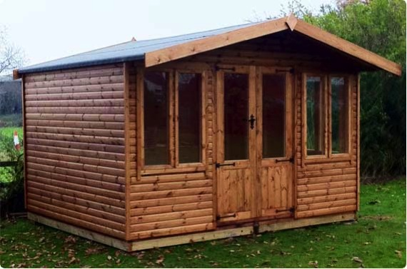 12x10 summerhouse - Leeming village