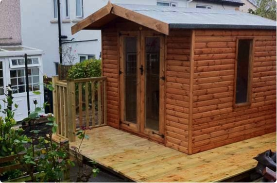8x8 summerhouse with decking - Richmond